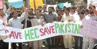 HEC Devolution protest