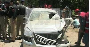 peshawar blast ouside home