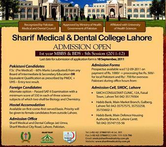 sharif medical college class