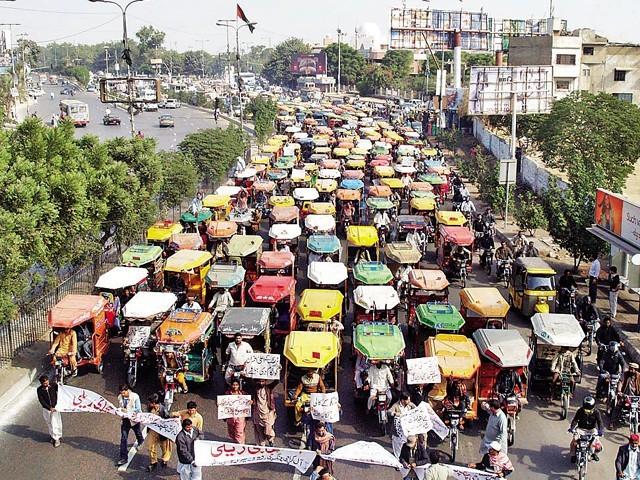 Rickshaw protest