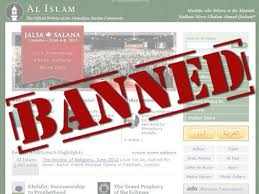 Ahmnaddiya website banned