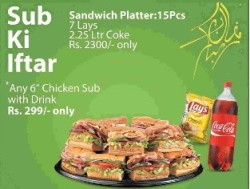 SUBWAY Iftar Deal Ramzan 2012