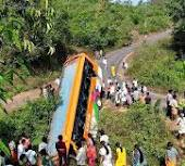 bus falling incident in india