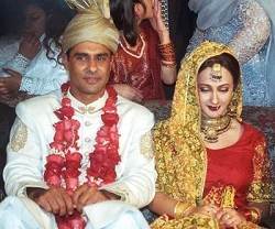 waqar younis wedding