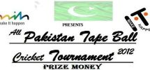 all pakistan tape ball cricket tournament