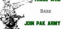 Join Army with character