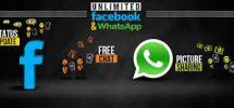 warid whatsapp and facebook