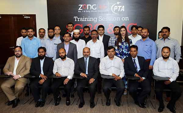 Zong and PTA staff in zong training