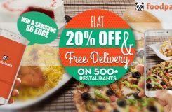 foodpanda 20% discount banner
