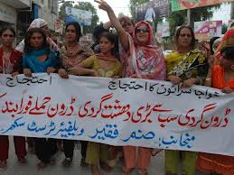 khuwaja sara protest against drones