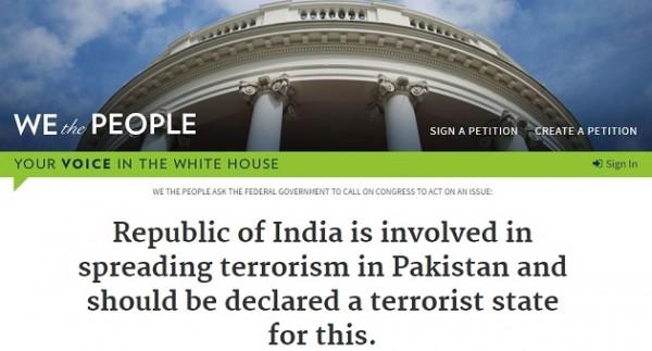 white house petition pakistan